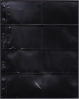 AASA-Hüllen 2/4 PP-Folie PVC Frei Packet A 10 St. Schwarz 4 Streifen In Der Mitte Geteilt - Albums & Reliures