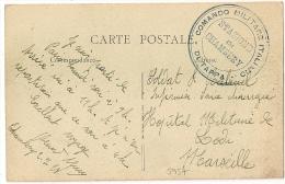 RARE : COMMANDO MILITARE ITALIANO STAZIONE DI CHAMBERY * DI TAPPA * Sur CP En Franchise. 1928 - Bolli Militari A Partire Dal 1940 (fuori Dal Periodo Di Guerra)