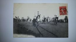 AFRIQUE Biskra LA GRANDE FANTASIA Cheval Militaire Epee Cpa Postcard Animee TB - Biskra