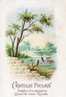 Image  Publicitaire Chocolat POULAIN Paysage Et Fleurs En Léger Relief  (choc2) - Chocolate