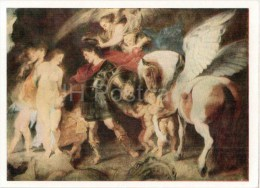 Painting By Peter Paul Rubens - Perseus And Andromeda - Winged Horse - Flemish Art - Unused - Peintures & Tableaux