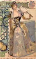 Image Publicitaire Chocolat  GUERIN BOUTRON, Femme à L'éventail, Parisienne 1889  (choc7) - Cioccolato