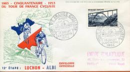 """France ;FDC 1953 ; """" Tour De France ; 12ème étape """" - 1950-1959"""