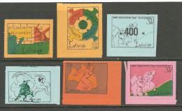 LATVIA Lettland In Exil Anti Communist Propaganda Stamps 1960ies - Erinnophilie