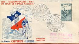 """France ;FDC 1953 ; """" Tour De France ; 11ème étape """" - 1950-1959"""
