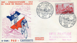 """France ;FDC 1953 ; """" Tour De France ; 10ème étape """" - 1950-1959"""