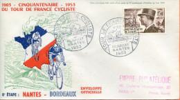 """France ;FDC 1953 ; """" Tour De France ;8ème étape """" - 1950-1959"""