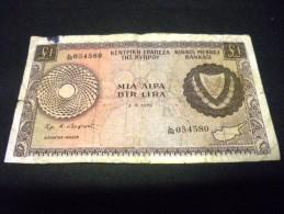 CHYPRE 1 Lira / Livre 01/05/1978 ,pick  N° KM 43 C , CYPRUS - Chypre