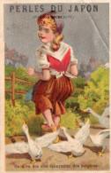 Image Publicitaire PERLES DU JAPON, On A Vu Des Oies épouvanter Des Bergères  (choc11) - Publicité