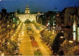 Wenceslas Square - Praha - Prague - Czechoslovakia - Czech - Used 1989 - Czech Republic
