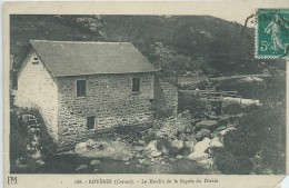 23, Creuse, ROYERES, 782 Habitants, Le Moulin De La Rigole Du Diable,Manque Coin Bas, Scan Recto-Verso - Royere