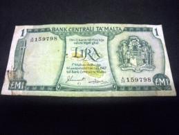MALTE 1 Livre / Lira / Pound  1967/1973,pick N°31 F, MALTA - Malta