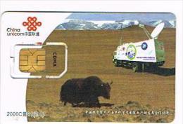CINA  - CHINA UNICOM - GSM SIM CARD    -  2006 ANIMALS: YAK  - USED WITH CHIP  -  RIF. 8959 - China