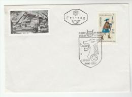 1966 AUSTRIA FDC Stamps Day Special Pmk DRAGON  Dragons Graz Cover - Mythology