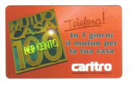 MUTUO CASA CARITRO 10000 Lire Nuova Cod.schede.017 - Italia