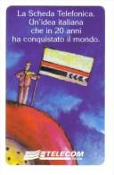 LA SCHEDA TELEFONICA 20 ANNI 5000 Lire Nuova Cod.schede.018 - Italy
