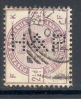 GB, 1883 2½d  With Perfin ´H & P´ - 1840-1901 (Victoria)