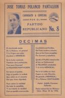 E1293 CUBA DECIMAS ELECTORALES DE CONSEJAL. CIRCA 1920. PRESIDENTE MENOCAL. - Documents Historiques
