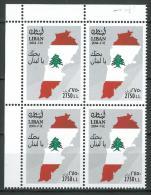 Lebanon 2014 New Stamp MNH - Independence Day - I Love You Lebanon - Flag - Map - Corner Blk/4 - Lebanon