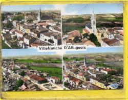 - VILLEFRANCHE D'ALBIGEOIS - En Avion Au-dessus De....Vue Générale - L´Eglise - Villefranche D'Albigeois