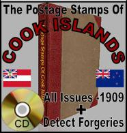 COOK ISLANDS Stamps Minor/Major FLAWS Errors ID Forgery/Forged/Faux/Truques - Poole - Software