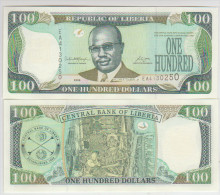 Liberia 100 Dollars 2006  Pick 30 UNC - Liberia