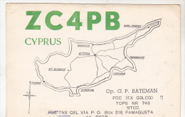 Cyprus Famagusta 1961 Circulated QSL Card - QSL-Kaarten