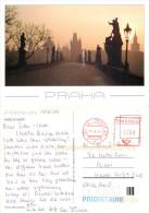 Prague Praha, Czech Republic Postcard Posted 2009 Meter - Czech Republic