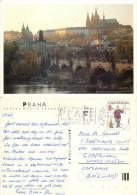 Prague Praha, Czech Republic Postcard Posted 1995 Stamp - Czech Republic