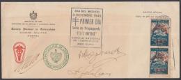 1948-FDC-43 CUBA. REPUBLICA .1948. SIGNED FDC NAVIDAD CHRISTMAS. - FDC