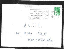 FLAMME TEMPORAIRE   44 LE POULIGUEN - Mechanical Postmarks (Advertisement)