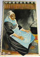 CPA 29 Plougastel Aquarelle De Charles Homualk Bretagne Coiffe - Paintings