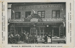 Paris 12 Eme 11, Place Aligre Marché Lenoir Vente D Escargots Maison H. Bernard Triporteur  Snails Dealer - Magasins