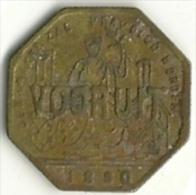 2259 Broodkaart Vooruit Gent 1880 - Andere
