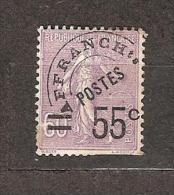 Préo. N° 47 - 55c Sur60c Violet Semeuse Lignée - - Préoblitérés