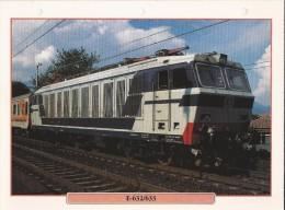 Trein.- Treinen - Locomotief - E-632/633. De BBB Familie. - 2 Scans. - Spoorweg