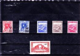 ALGERIE :  : Y&T : 158*-163* à 167* - Algérie (1924-1962)