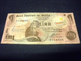 MALTE 1 Livre / Lira / Pound 1979 , Pick N°34 B, MALTA - Malte