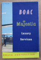 "Brochure Aviation ""B. O. A. C. British Overseas Airways Corporation 1955"" - Collezioni"