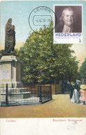 D20603 CARTE MAXIMUM CARD RR 2013 NETHERLANDS - BOERHAAVE LEIDEN STATUE CP VINTAGE UNWRITTEN ORIGINAL - Explorers