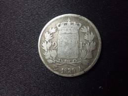 2 FRANCS CHARLES X 1829 A - Francia
