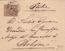 Lettre Type Sage 30cts Paris Pour L'Italie - Postmark Collection (Covers)