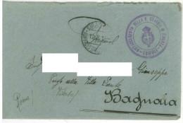 FRA126 BUSTA PARTITA 12 AGOSTO 1913 DA TRIPOLI DISTACCAMENTO DELLA GUARDIA DI FINANZA INDIRIZZATA A BAGNAIA (VITERBO) BU - 1900-44 Victor Emmanuel III