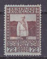 AUSTRIA 1908 72h MINT