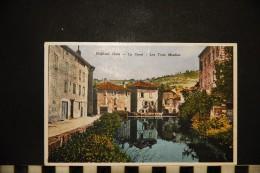 CP, 46, FIGEAC Le Canal Les Trois Moulins Vierge - Figeac