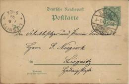 ALEMANIA REICH ENTERO POSTAL DE STOLP A LIEGNITZ 1892 - Ganzsachen