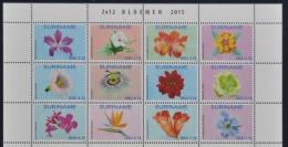 REP. SURINAME 2015 SERIE ++ FLOWERS FLEUR BLOEMEN ++ MNH POSTFRIS **