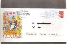 """Lettre  PAP  De   """"  Bailleul  - Le Carnaval """"  (  59  )  Du  26 - 01 - 2005  De Sainghate    Sur  Facsimilé  N° 3417 - Postwaardestukken"""