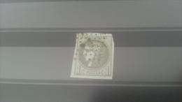 LOT 270194 TIMBRE DE FRANCE OBLITERE N�39B VALEUR 200 EUROS