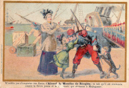 Image Publicitaire Alcool RICQLES, émotions Pour Le Départ Du Soldat    (choc19) - Alcools
